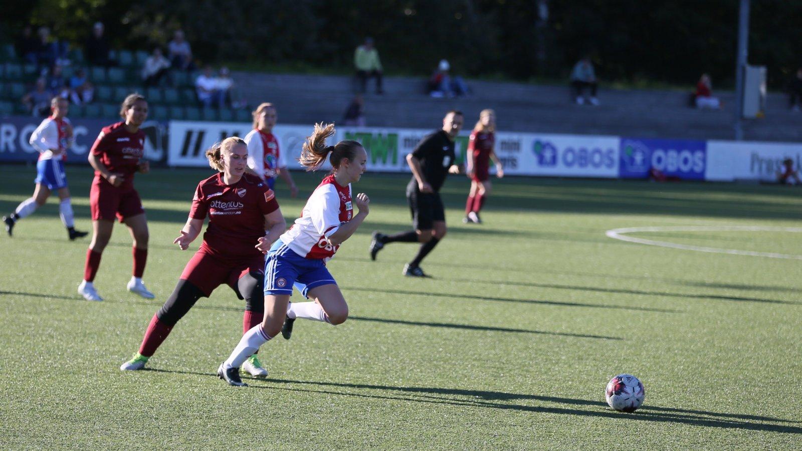 Emma Skredderberget er tilbake i KFUM etter opphold i Kolbotn og Vålerenga. Foto: Guttorm Lende